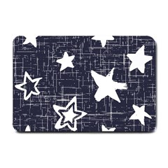 Star Space Line Blue Art Cute Kids Small Doormat