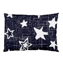 Star Space Line Blue Art Cute Kids Pillow Case