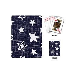 Star Space Line Blue Art Cute Kids Playing Cards (mini)