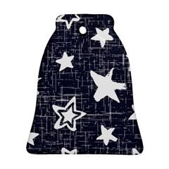 Star Space Line Blue Art Cute Kids Ornament (bell)