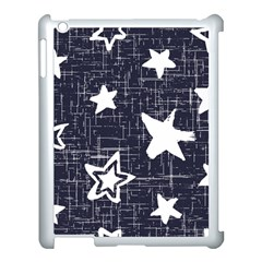 Star Space Line Blue Art Cute Kids Apple Ipad 3/4 Case (white)