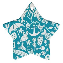 Summer Icons Toss Pattern Ornament (star)