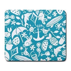 Summer Icons Toss Pattern Large Mousepads
