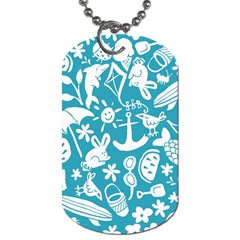 Summer Icons Toss Pattern Dog Tag (two Sides)