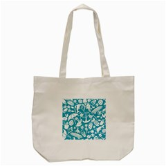 Summer Icons Toss Pattern Tote Bag (cream)