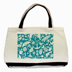Summer Icons Toss Pattern Basic Tote Bag (two Sides)