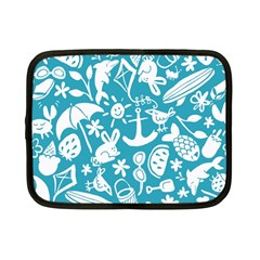 Summer Icons Toss Pattern Netbook Case (small)