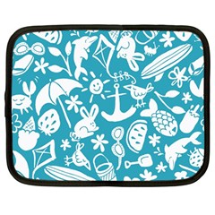 Summer Icons Toss Pattern Netbook Case (large)