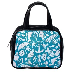 Summer Icons Toss Pattern Classic Handbags (one Side)