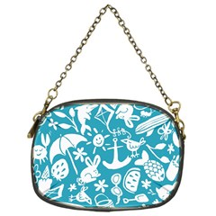 Summer Icons Toss Pattern Chain Purses (one Side)