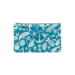 Summer Icons Toss Pattern Cosmetic Bag (small)