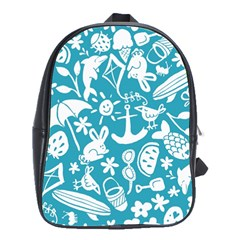 Summer Icons Toss Pattern School Bag (large)