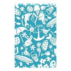 Summer Icons Toss Pattern Shower Curtain 48  X 72  (small)