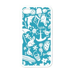 Summer Icons Toss Pattern Apple Iphone 4 Case (white)