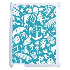 Summer Icons Toss Pattern Apple Ipad 2 Case (white)