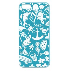 Summer Icons Toss Pattern Apple Seamless Iphone 5 Case (color)