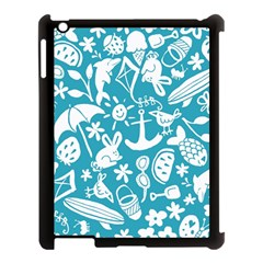 Summer Icons Toss Pattern Apple Ipad 3/4 Case (black)