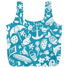 Summer Icons Toss Pattern Full Print Recycle Bags (l)