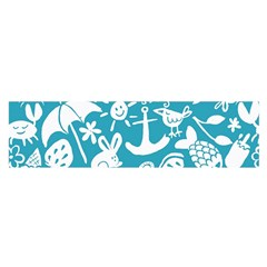 Summer Icons Toss Pattern Satin Scarf (oblong)