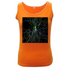 Synaptic Connections Between Pyramida Neurons And Gabaergic Interneurons Were Labeled Biotin During Women s Dark Tank Top