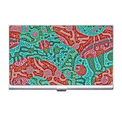 Recursive Coupled Turing Pattern Red Blue Business Card Holders
