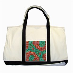 Recursive Coupled Turing Pattern Red Blue Two Tone Tote Bag