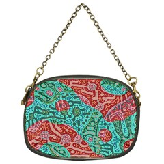 Recursive Coupled Turing Pattern Red Blue Chain Purses (one Side)