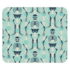 Skull Skeleton Repeat Pattern Subtle Rib Cages Bone Monster Halloween Double Sided Flano Blanket (small)