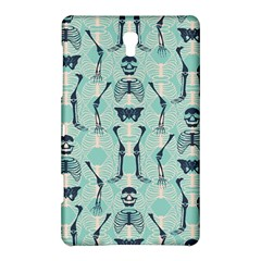 Skull Skeleton Repeat Pattern Subtle Rib Cages Bone Monster Halloween Samsung Galaxy Tab S (8 4 ) Hardshell Case