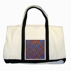 Silk Screen Sound Frequencies Net Blue Two Tone Tote Bag