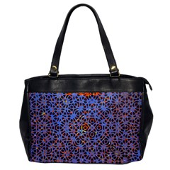 Silk Screen Sound Frequencies Net Blue Office Handbags