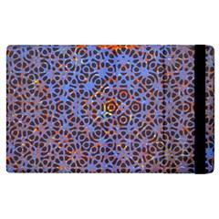 Silk Screen Sound Frequencies Net Blue Apple Ipad 2 Flip Case