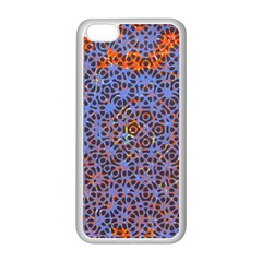 Silk Screen Sound Frequencies Net Blue Apple Iphone 5c Seamless Case (white)