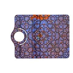 Silk Screen Sound Frequencies Net Blue Kindle Fire Hd (2013) Flip 360 Case