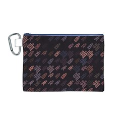 These Letter Ancient Tibetan Kingdom Zhang Zhung Ram Yam Kham Srum Art Sign Canvas Cosmetic Bag (m)