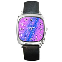 The Luxol Fast Blue Myelin Stain Square Metal Watch
