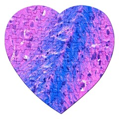 The Luxol Fast Blue Myelin Stain Jigsaw Puzzle (heart)