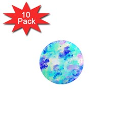 Transparent Colorful Rainbow Blue Paint Sky 1  Mini Magnet (10 Pack)