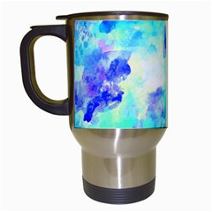 Transparent Colorful Rainbow Blue Paint Sky Travel Mugs (white)
