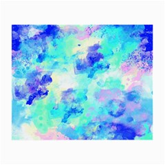 Transparent Colorful Rainbow Blue Paint Sky Small Glasses Cloth