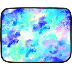 Transparent Colorful Rainbow Blue Paint Sky Double Sided Fleece Blanket (mini)