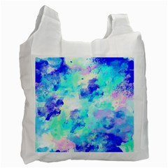 Transparent Colorful Rainbow Blue Paint Sky Recycle Bag (two Side)