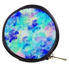 Transparent Colorful Rainbow Blue Paint Sky Mini Makeup Bags