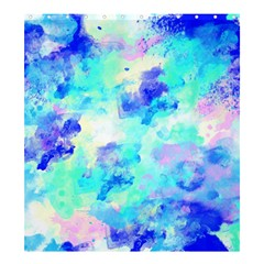 Transparent Colorful Rainbow Blue Paint Sky Shower Curtain 66  X 72  (large)