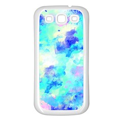 Transparent Colorful Rainbow Blue Paint Sky Samsung Galaxy S3 Back Case (white)