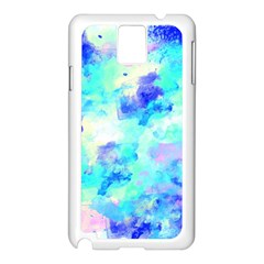 Transparent Colorful Rainbow Blue Paint Sky Samsung Galaxy Note 3 N9005 Case (white)