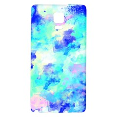 Transparent Colorful Rainbow Blue Paint Sky Galaxy Note 4 Back Case