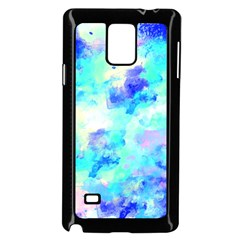 Transparent Colorful Rainbow Blue Paint Sky Samsung Galaxy Note 4 Case (black)