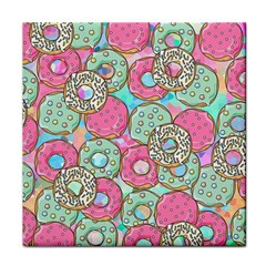 Donuts Pattern Tile Coasters