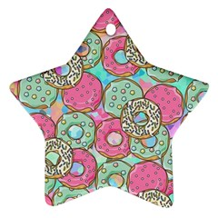 Donuts Pattern Ornament (star)